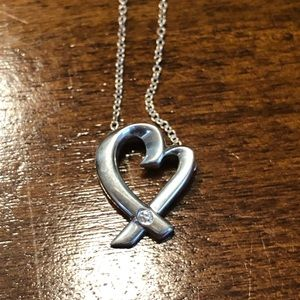 Tiffany & Co.,  Loving Heart w diamond necklace